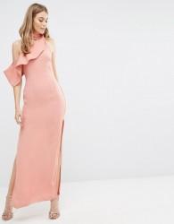Keepsake Laika Maxi Dress with Neck Detail - Pink