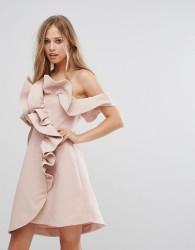 Keepsake Messages Mini Ruffle Dress - Pink