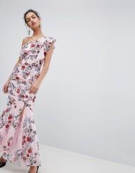 Keepsake one shoulder floral maxi dress - Pink