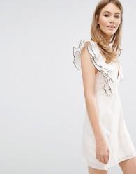 Keepsake Remind Me Mini Dress with Frill - Pink