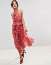 Keepsake Ruffle Swing Dress - Pink