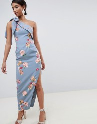 Keepsake scattered floral maxi gown - Blue