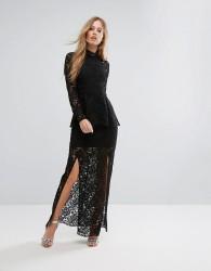 Keepsake Star Crossed Lace Dress - Black