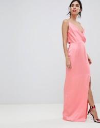 Keepsake strappy gown with leg split - Pink