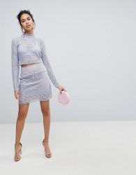 Keepsake Sweet Nothing Crochet Lace Skirt - Blue