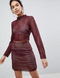 Keepsake Sweet Nothing Crochet Lace Top - Brown