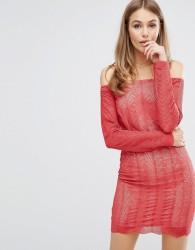 Keepsake Think Twice Lace Dress - Red