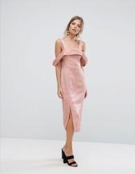 Keepsake Too Late Midi Dress - Pink