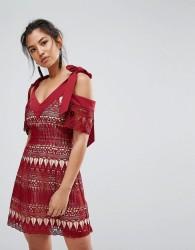 Keepsake Walk On By Lace Dress - Red