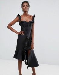 Keepsake Wallflower Ruffle Dress - Black