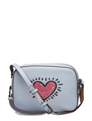 Keith Haring Sequins Heart Camera Bag