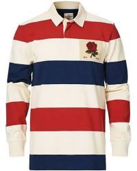Kent & Curwen Stanley Striped Rose Logo Rugby Multi men S Rød