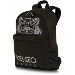 Kenzo Canvas Tiger Backpack Black