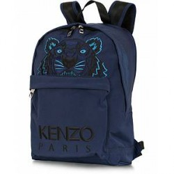 Kenzo Canvas Tiger Backpack Navy Blue