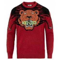 Kenzo Claw Tiger Jumper Red