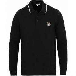 Kenzo Long Sleeve Polo Black