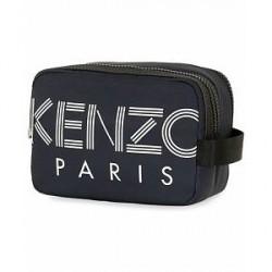 Kenzo Nylon Logo Washbag Navy