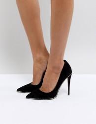 KG By Kurt Geiger Envy Suede Court Shoes - Black