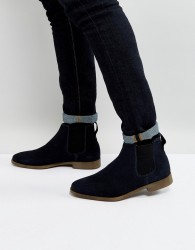 KG By Kurt Geiger Guildford Chelsea Boot In Navy Suede - Blue