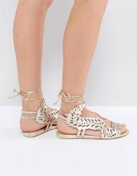 KG by Kurt Geiger Malta Metallic Flat Sandals - Gold