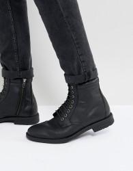 Kg By Kurt Geiger Military Lace Up Boots Black - Black
