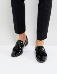 Kg By Kurt Geiger Patent Tassel Loafers - Black
