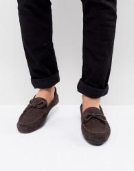 KG By Kurt Geiger Ringwood Driving Shoes In Suede - Brown