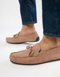 KG By Kurt Geiger Wide Fit Ringwood Driving Shoes In Suede - Pink