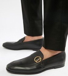 KG By Kurt Geiger Wide Fit Rushden Loafers - Black