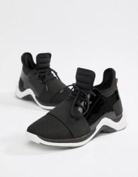 KG Kurt Geiger Black Fashion Trainers With Patent Trim - Black