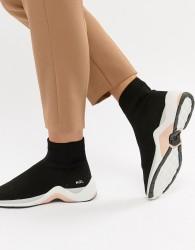 KG Kurt Geiger Black Sock Trainers With Neon Trim - Black