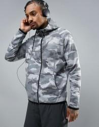 Ki5-A Camo Print Jacket - Grey
