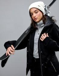 Killtec Function Belted Ski Jacket With Detachable Hood - Black