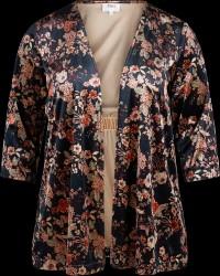 Kimono i mønstret velour
