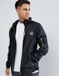 Kings Will Dream Banard Wind Runner Jacket In Black With Logo - Black