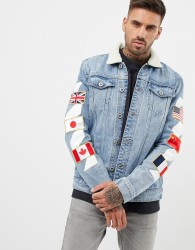 Kings Will Dream denim jacket with badges - Blue