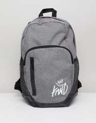 Kings Will Dream grey backpack with logo - Grey