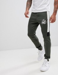 Kings Will Dream joggers in khaki with contrast panels - Green