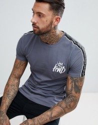 Kings Will Dream Muscle Fit Roxberry T-Shirt In Grey - Grey