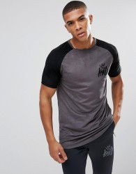 Kings Will Dream Muscle T-Shirt In Grey Suedette - Grey