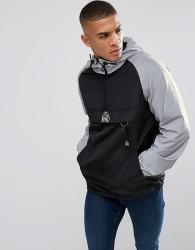 Kings Will Dream Overhead Windbreaker Jacket In Black With Reflective Sleeves - Black
