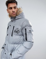 Kings Will Dream Reflective Parka - Silver
