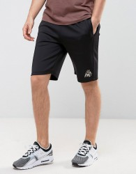 Kings Will Dream Skinny Shorts In Black With Gold Logo - Black