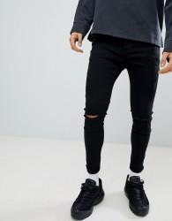 Kings Will Dream Super Skinny Fit Lumor Jeans In Black - Black