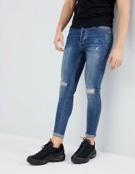 Kings Will Dream Super Skinny Fit Lumor Jeans In Midwash Blue - Blue