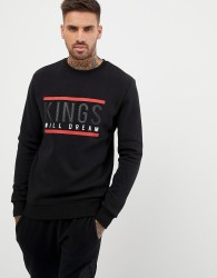 Kings Will Dream sweatshirt with chest logo in black - Black
