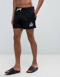 Kings Will Dream Swim Shorts In Black - Black