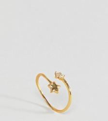 Kingsley Ryan Gold Plated Spray Star Ring - Gold
