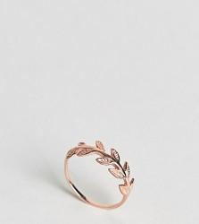Kingsley Ryan Rose Gold Plated Leaf Ring - Gold