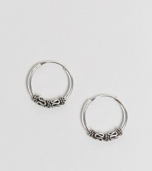Kingsley Ryan Sterling Silver 14MM Wire Wrap Hoop Earrings - Silver